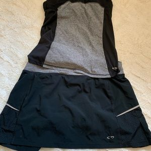 Champion tennis top and skirt